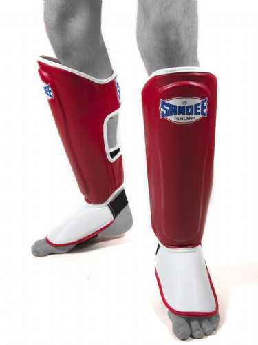 Sandee Kids authentic Shin Guards - Red